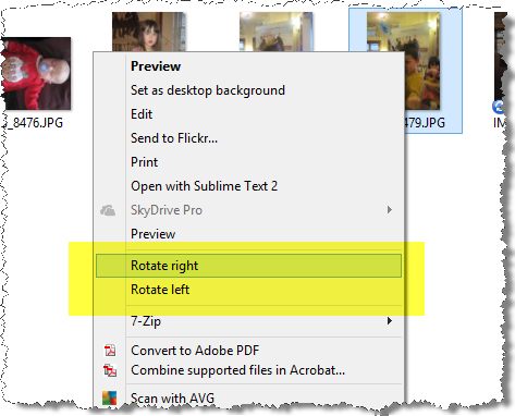 Rotating Images on Windows 8