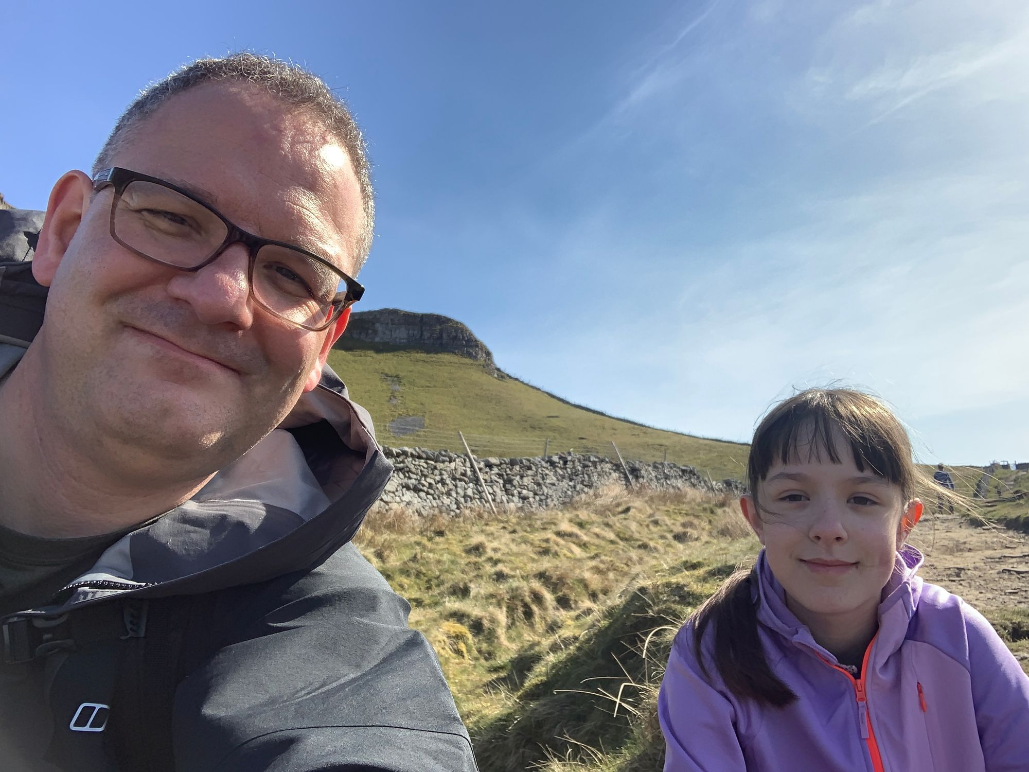 Pen-y-ghent With a Daughter